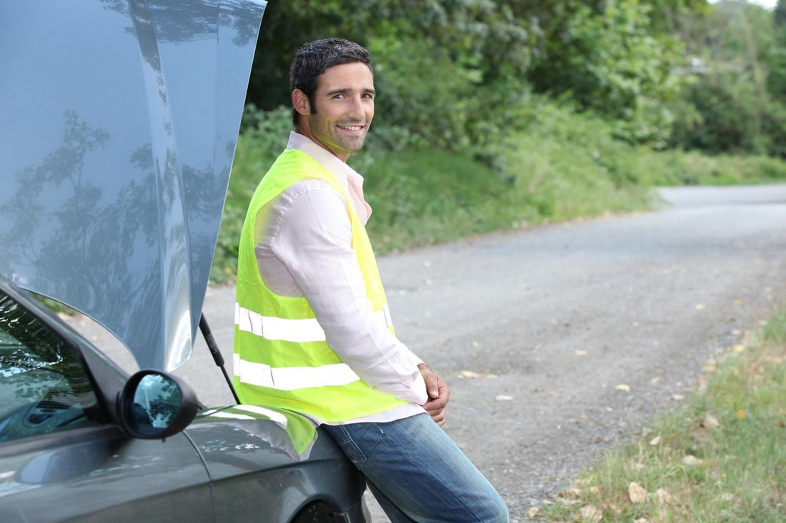 man wearing a light sensor vest